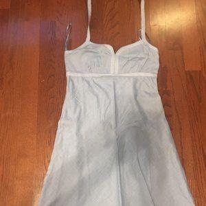 Chambray halter dress